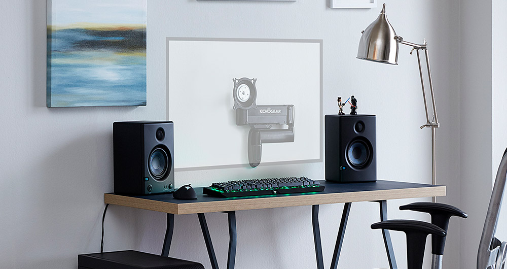 Echogear Single Monitor Computer Wall Mount With Fully