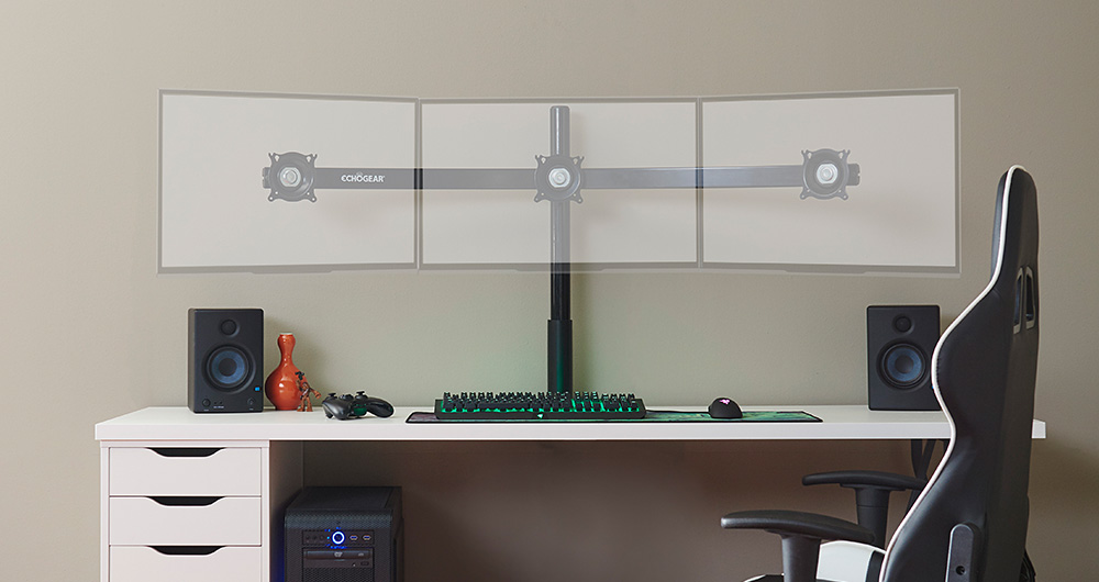 Echogear Triple Monitor Desk Mount For Screens Up To 27 Quot
