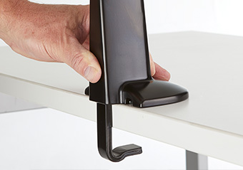 clamp dual monitor mount to desk
