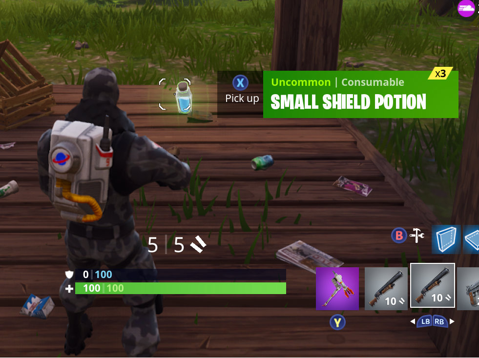 fortnite shield potions