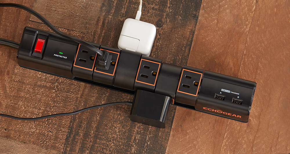 rotating outlets make this surge protector great