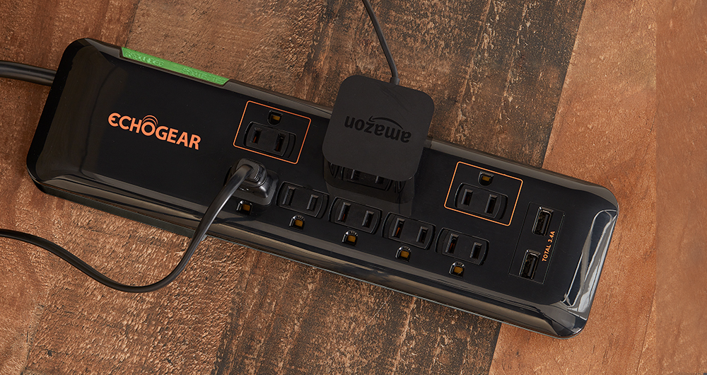 Heavy duty surge protector power strip