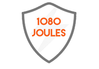 1080 Joules of surge protection will keep your electronics safe