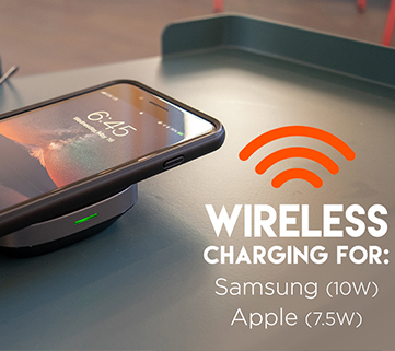wirless charger works for Samsung and iPhone