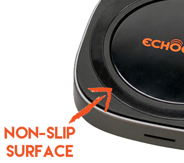 non-slip surface for reliable wireless charging