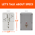 Designed to fit with existing outlets and install in seconds