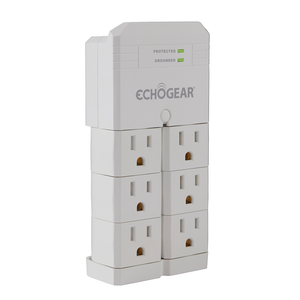 6 outlet surge protector from ECHOGEAR is built to protect your home