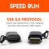 Uses USB 2.0 speeds for quick data transfer
