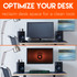 Free up desk space by clamping your monitor to the desk
