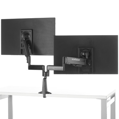 Echogear Dual Monitor Desk Mount For Gaming Amp Office Monitors