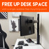 Free up desk space by mounting your 3 monitors to the desk
