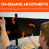 On-demand screen adjustments let you get the perfect monitor position.