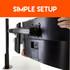 Easy to setup triple monitor mount