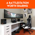 Build a sick gaming battlestation by desk mounting your monitors