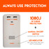 Has 1080J of surge protection to keep your gadgets safe
