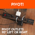 Pivot your outlets 90º to fit all your large devices
