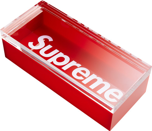 Supreme Lucite Box Red Curatedsupply Com