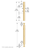TX-DER-SS-S2 Double-Ended Receptacle