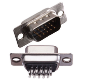 D-Sub HD15 Male Solder Cup Connector