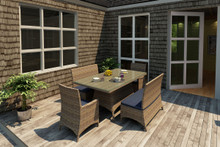 Forever Patio Cypress Collection 5 Piece Wicker Dining Set by NorthCape International