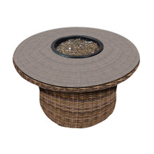 "Forever Patio Cypress 42"" Round Wicker FireTable by NorthCape International"