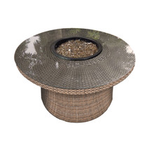 "Forever Patio Hampton 42"" Round Wicker FireTable by NorthCape International"
