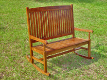 International Caravan Highland Tradition Oil Finish Double Porch Rocker