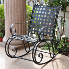 International Caravan Mandalay Wrought Iron Rocker