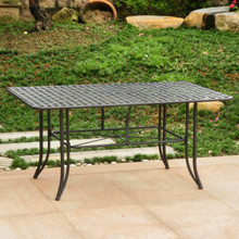 "International Caravan Mandalay Wrought Iron 63"" Rectangular Dining Table"