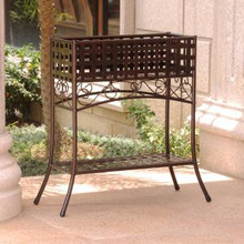 International Caravan Mandalay Rectangular Iron Plant Stand