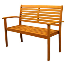 International Caravan Royal Tahiti Oslo Yellow Balau Hardwood Contemporary Bench