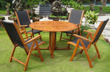 "International Caravan Royal Tahiti Santiago 5-Piece 51.5"" Round Gateleg Dining Set"