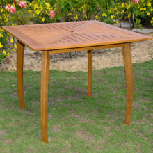 International Caravan Royal Tahiti Yellow Balau Hardwood Outdoor 36-inch Square Dining Table