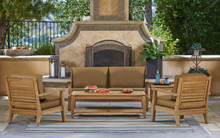 Forever Patio 4 Piece Miramar Plantation Teak Sofa Set by NorthCape Intl