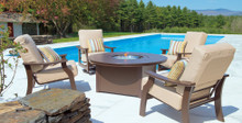 Telescope Casual St Catherine 5 Piece Chat Set With Round Fire Table