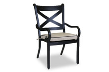 Monterey Dining Chair With Cushions In Frequency Sand With Canvas Walnut Welt