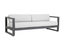 Redondo Sofa With Cushions In Cast Silver