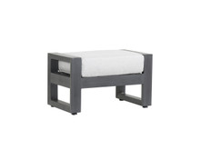 Redondo Ottoman With Cushions In Cast Silver