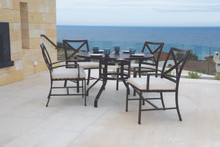 "La Jolla 48"" Round Dining Table With Dining Chairs"