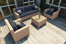 Forever Patio Hampton 4 Piece Wicker Sofa Set by NorthCape International