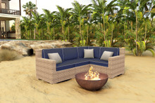 Forever Patio Hampton 4 Piece Wicker Sectional Set by NorthCape International