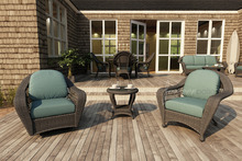 Forever Patio 3 Piece Catalina Wicker Chat Set by NorthCape International