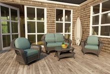 Forever Patio 4 Piece Catalina Wicker Conversation Set by NorthCape International