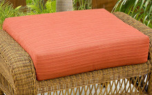 NorthCape International Wicker Deep Seating Ottoman Replacement Cushion