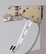 Billet Under-The-Dash Foot Operated Emergency Brake Windowed Arm w/ Rubber Insert Lokar EFB-9003