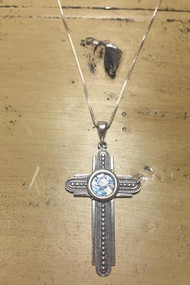 2000 year old Roman Glass in a Sterling Silver Cross