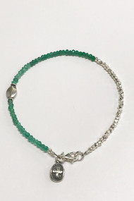 Emerald Sterling Nuggets Kindness Bracelet