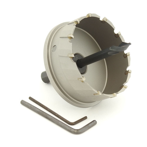 "ALFRA 0760081 MBS-PRO Series TCT HOLE SAW, 3-3/16"" DIA, 1-3/16"" DOC"