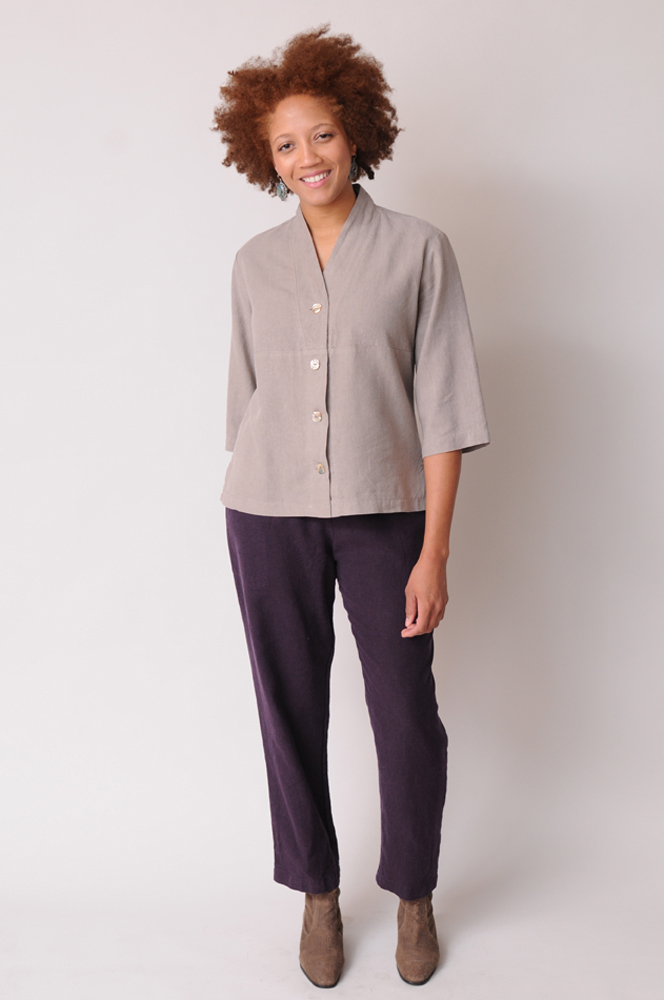 With roomy pockets and an elastic waist, Stovepipe Pants combine fit and function with comfort.