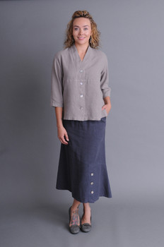 Hemp & Tencel Skirt - Graphite